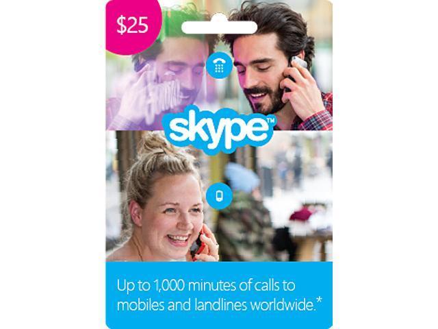 Skype $25 Prepaid Credit