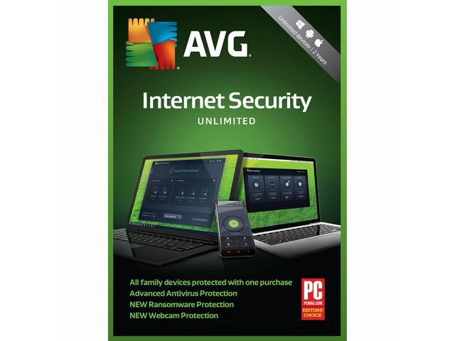AVG Internet Security 2018, Unlimited Devices / 2 Years [Key Card]