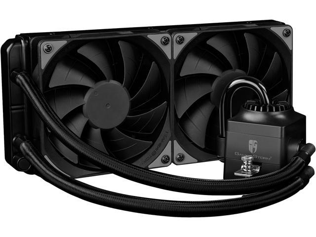 DEEPCOOL Gamer Storm CAPTAIN 240EX RGB CPU Liquid Cooler w/ Controllable RGB LED Lights System Visual Liquid Flow, 120mm