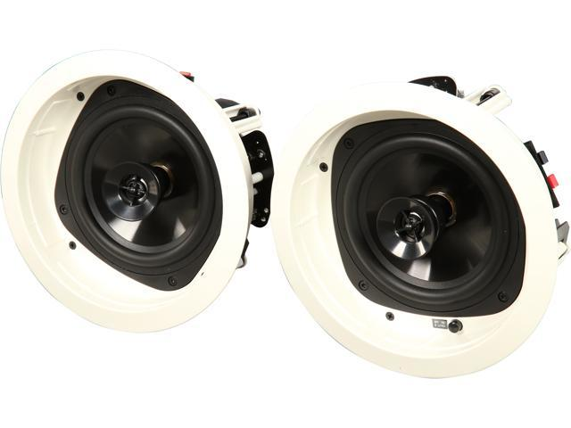 Klipsch KHC-6 In-Ceiling 6.5 inch Speakers, White (Pair)