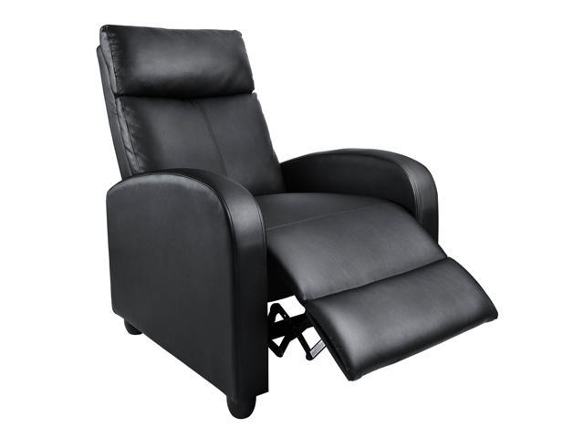 Homall Single Recliner Chair - Padded Seat, Black PU Leather, Living ...