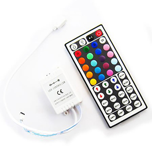Hitlights rgb multicolor changing smd5050 led light strip kit another amazing feature of the 44 key ir rgb controller is the diy do it yourself buttons which allows you to create your own color and save 6 custom aloadofball Gallery