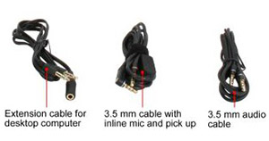 Three cables included