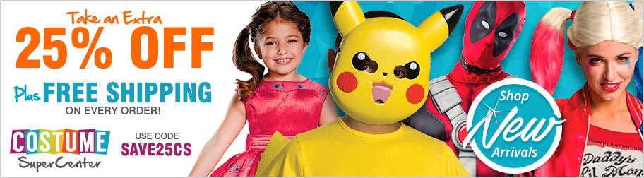 Costume SuperCenter 25% Off - Promo Code SAVE25CS