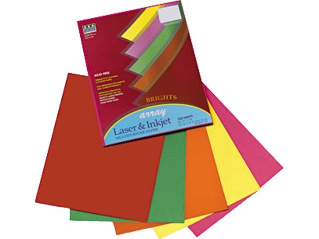 Pacon 101049 Array Colored Bond Paper, 20lb, Letter, Assorted, 100 Sheets/Pack
