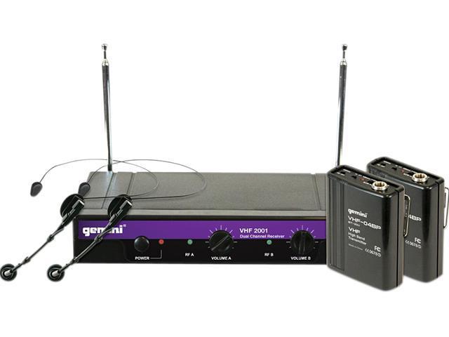 GEMINI VHF-2001HL Dual Wireless Lavalier Microphone