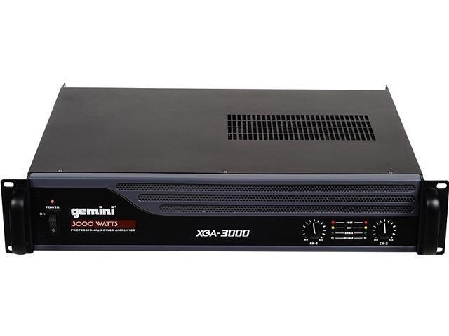 GEMINI XGA-3000 3000W DJ Power Amplifier - Manufacturer Refurbish