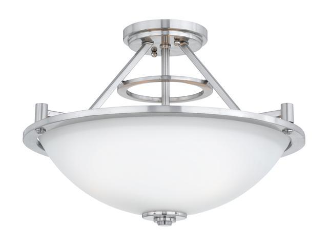 Quoizel Brushed Nickel Avery Large Brushed Nickel Semi Flush