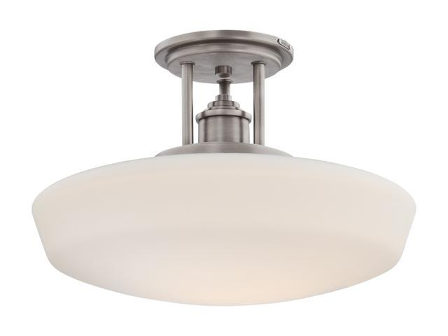 Quoizel Antique Nickel Copenhagen Antique Nickel Semi Flush