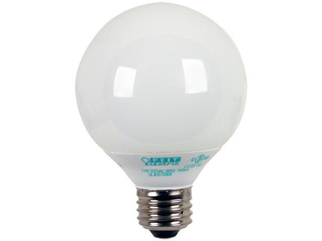 Feit Electric ESL11GTMM/3/ECO 3 Count 11 Watt Soft White G25 Globe Compact Fluorescent Light Bulb
