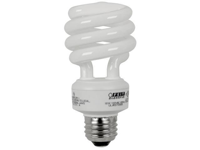 Feit Electric ESL18TM/CW/4 4 Count 18 Watt Bright White Mini Twist Light Bulbs