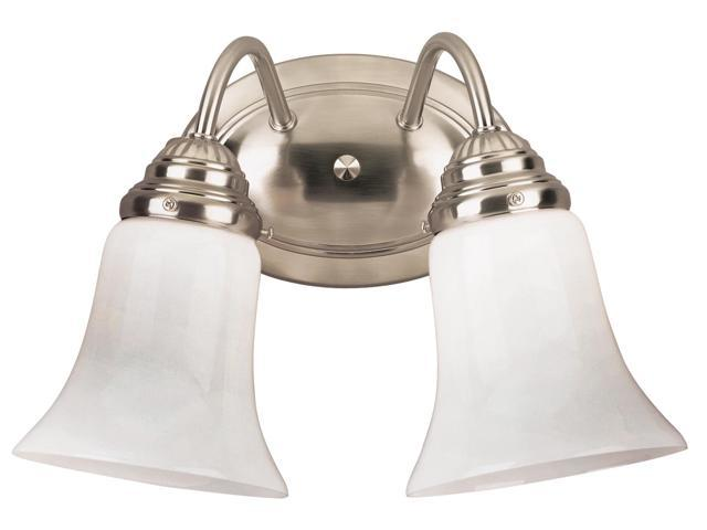 Westinghouse Brushed Nickel 2 Light Brushed Nickel Wall Fixture With White Opal Glass