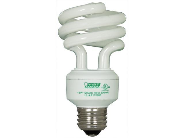 Feit Electric ESL18TM/4/RP 4 Count 18 Watt Soft White Mini Twist Light Bulbs