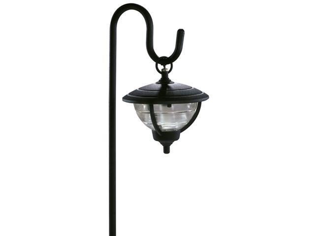 Northern International Black 12 Volt Black Palm Series Shepherd Hook Design Path Light