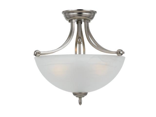 Quoizel Silver Delray Empire Silver Large Semi Flush