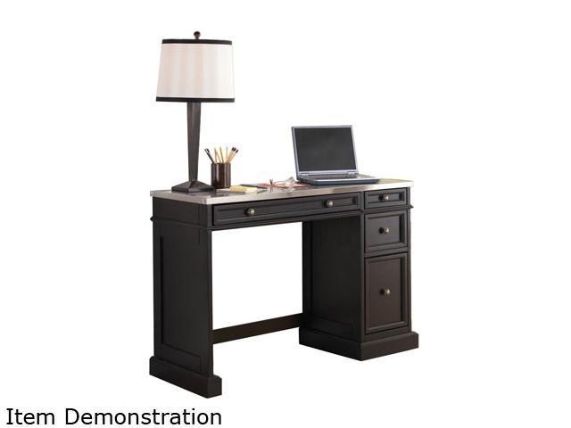 Home Styles 5003-792 Traditions Black Utility Desk with Stainless Steel Top