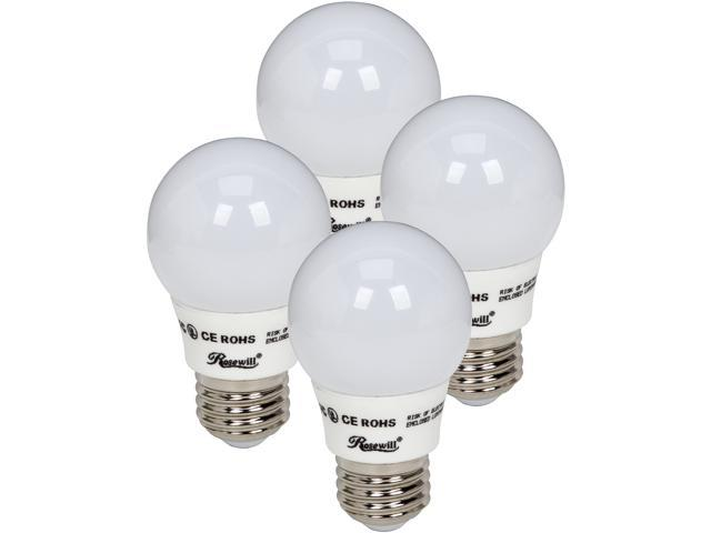 ROSEWILL RL-W53001-4P , A19 Non-Dimmable LED Bulbs, E26 Base, 4.5W, 360Lumen, UL CE ROHS, 3000K, Warm White, Wide beam angle 240°,4 Pack