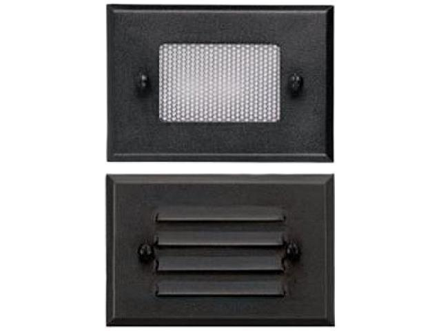 Malibu Landscape Lighting Low Voltage 12 Volt Half Brick Deck Light Metal Black with 2 Plates