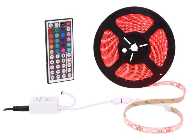 HitLights LED RGB Color Changing Lighting Strip, SMD5050, 300 LEDs, IP65, Weatherproof, 5 Meter or 16 Feet Kit, With 44 Key-Remote