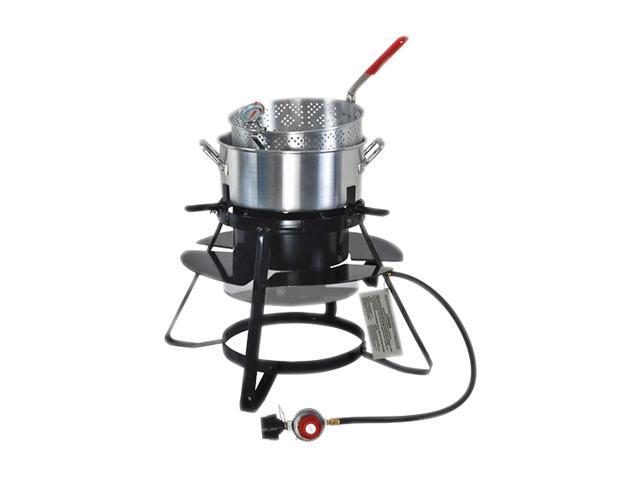 Brinkmann Outdoor Gas Cooker with 10 QT. Pan and Basket Set