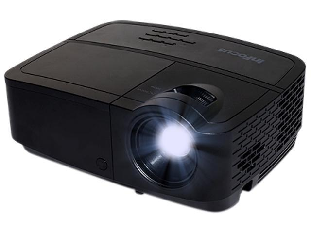InFocus IN116A 1280x800 WXGA 3000 Lumens HDMI 1.4 & Dual VGA Inputs, Brilliant Color Tech, Compact Design, 24 Language Menu, 3D Ready DLP Projector