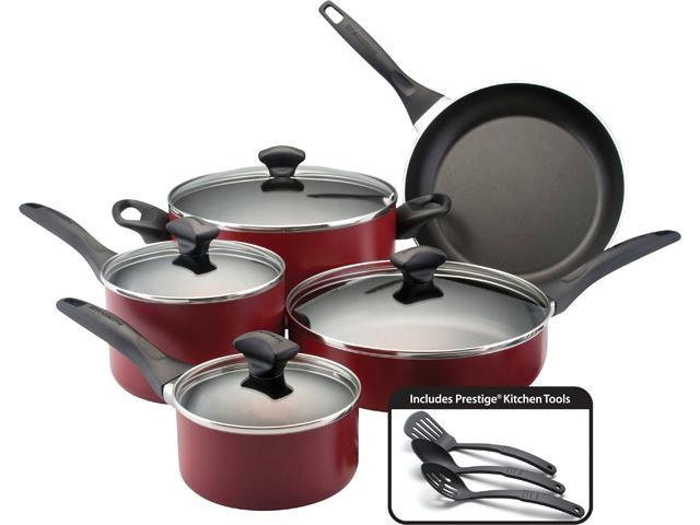 Farberware 12-pc. Nonstick Dishwasher Safe Nonstick Cookware Set, Red
