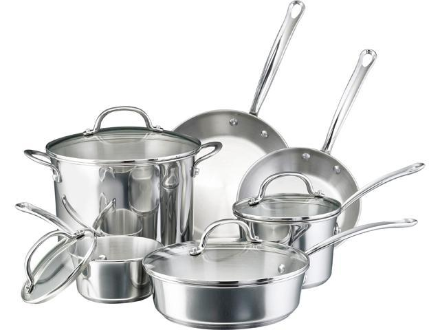 Farberware 10-pc. Millenium Stainless Steel Cookware Set