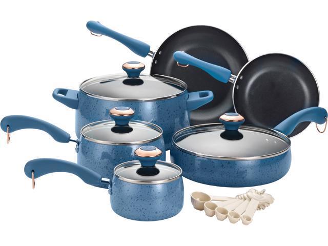 Paula Deen 15-pc. Nonstick Signature Porcelain Cookware Set, Blueberry Speckle