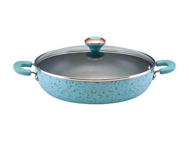 Paula Deen 12-in. Nonstick Signature Porcelain Everything Pan, Robin's Egg Blue