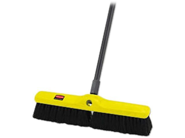 Rubbermaid Commercial Products RCP 9B07 BLA 18 Inch Floor Sweeper with Tampico Bristles