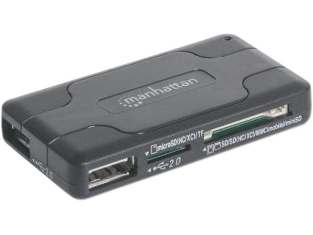 Manhattan 100984 3-Port Hi-Speed Usb Hub With 42-In-1 Multi-Cardeader