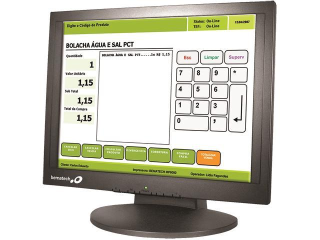 Bematech LE1017M 17-inch 5-Wire Resistive POS Touch Screen Monitor with MSR