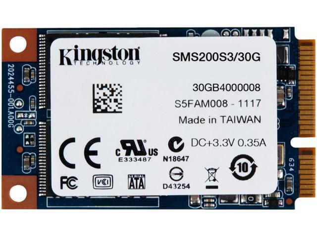 Kingston SSD Now mS200 SMS200S3/30G mSATA 30GB SATA III Internal Solid State Drive (SSD)