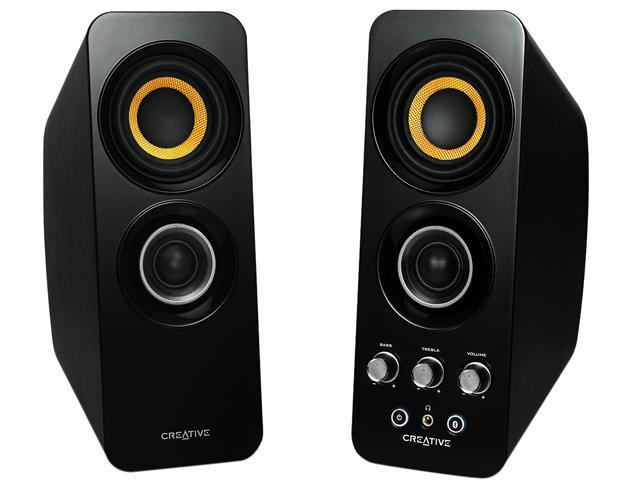 Creative Labs - 51MF1655AA001 - Creative Speakers 51MF1655AA001 Bluetooth Wireless 2.0 Speakers Black