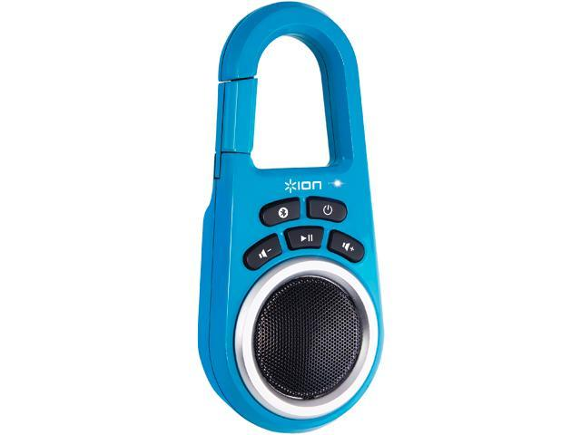ION Clipster Ultra-Portable Bluetooth Speaker with Built-In Clip (Blue)
