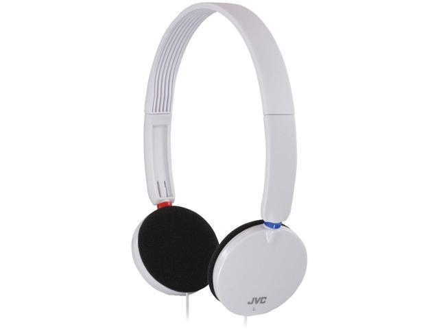 JVC HAS140W Lightweight On-Ear Headband Headphones (White)