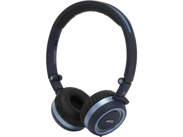 AKG K452 High-Performance On-Ear Headset with One Button In-Line Mic and Controls (Blue)
