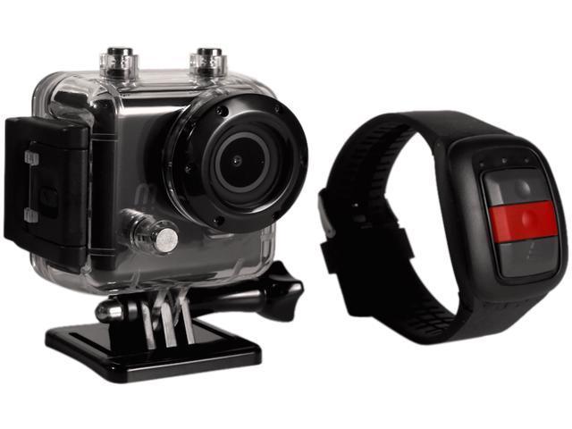 MeCam X Waterproof HD Action Camera - 2.0 Color LCD Screen, Wifi w/App, Remote Watch