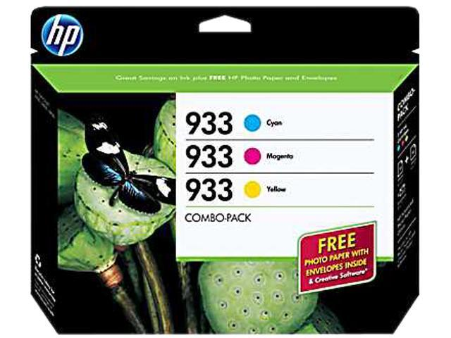 HP 933 Tri-color combo pack Ink Cartridge (B3B32FN#140)- Cyan, Magenta, Yellow