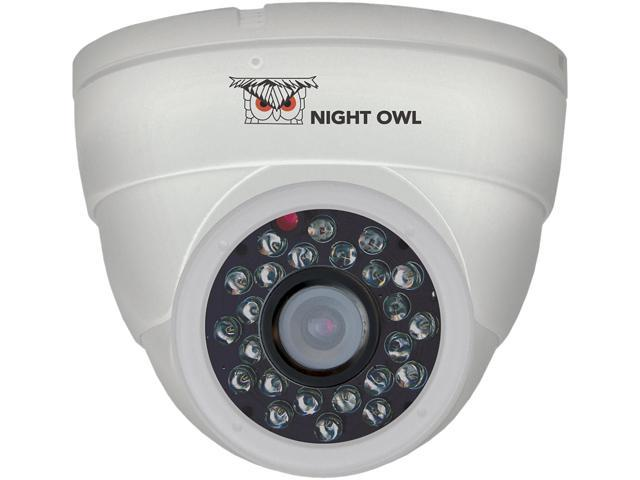 Night Owl CAM-DM624-W White Dome Camera 600 TVL with 24 LEDs and 60ft of Cable Per Camera - Color Box