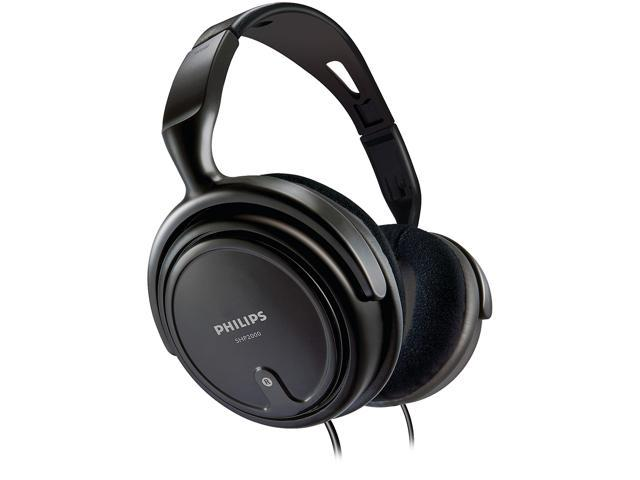 Philips SHP2000 Full-Size Wired Over-Ear Headphones (Black)