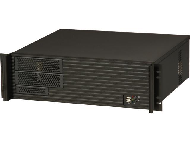ARK 3U390A Black 3U Rackmount Server Case w/o Power Supply 2 External 5.25