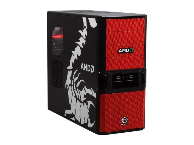 Thermaltake V3 Black AMD Edition VL800P1W2N Black / Red SECC / Plastic ATX Mid Tower Computer Case