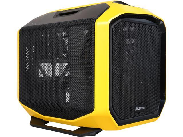 Corsair Graphite Series CC-9011065-WW Yellow Steel/ Plastic Mini-ITX 380T Portable Mini ITX Case