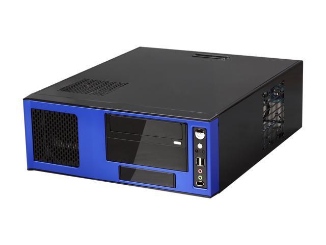 APEVIA Black / Blue SECC Steel / Aluminum X-MASTER-BL/500 ATX Media Center / HTPC Case