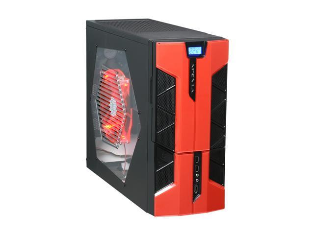 APEVIA X-PLORER2 Series X-PLORER2-RD Black/Red Steel ATX Mid Tower Computer Case