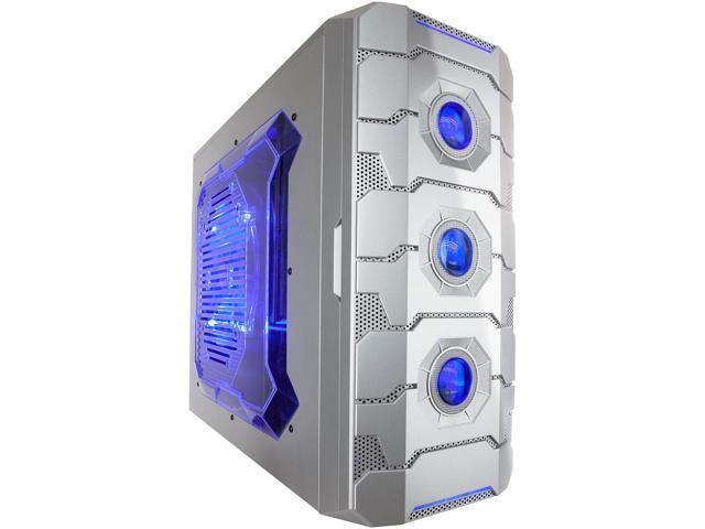 APEVIA X-CRUISER3 X-CRUISER3-AL Silver Steel ATX Mid Tower Computer Case w/ Side Window-Silver
