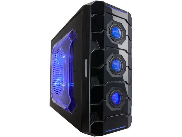 APEVIA X-CRUISER3 X-CRUISER3-BL Black Steel ATX Mid Tower Computer Case w/ Side Window-Blue (Mail In Rebate $15.0 Expires 01/31/15) (Mail In ...