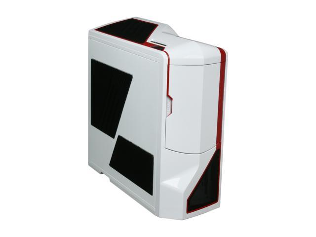 NZXT Phantom PHAN-003RD Red White Finish w/Red Trim Steel / Plastic Enthusiast ATX Full Tower Computer Case