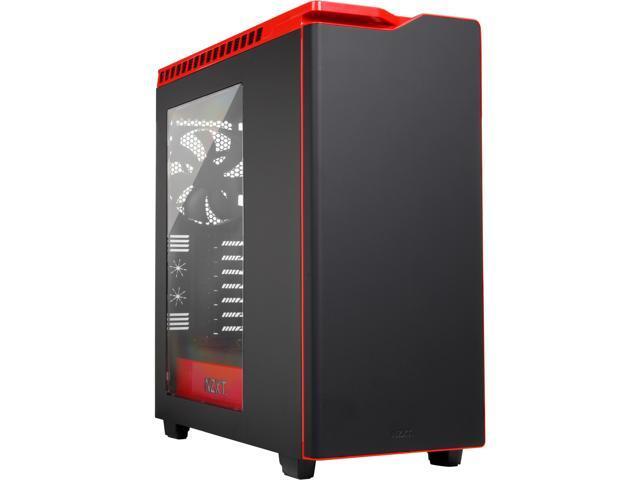 NZXT CS-NT-CA-H440W-M1 Black/Red Steel / Plastic ATX Mid Tower Computer Case